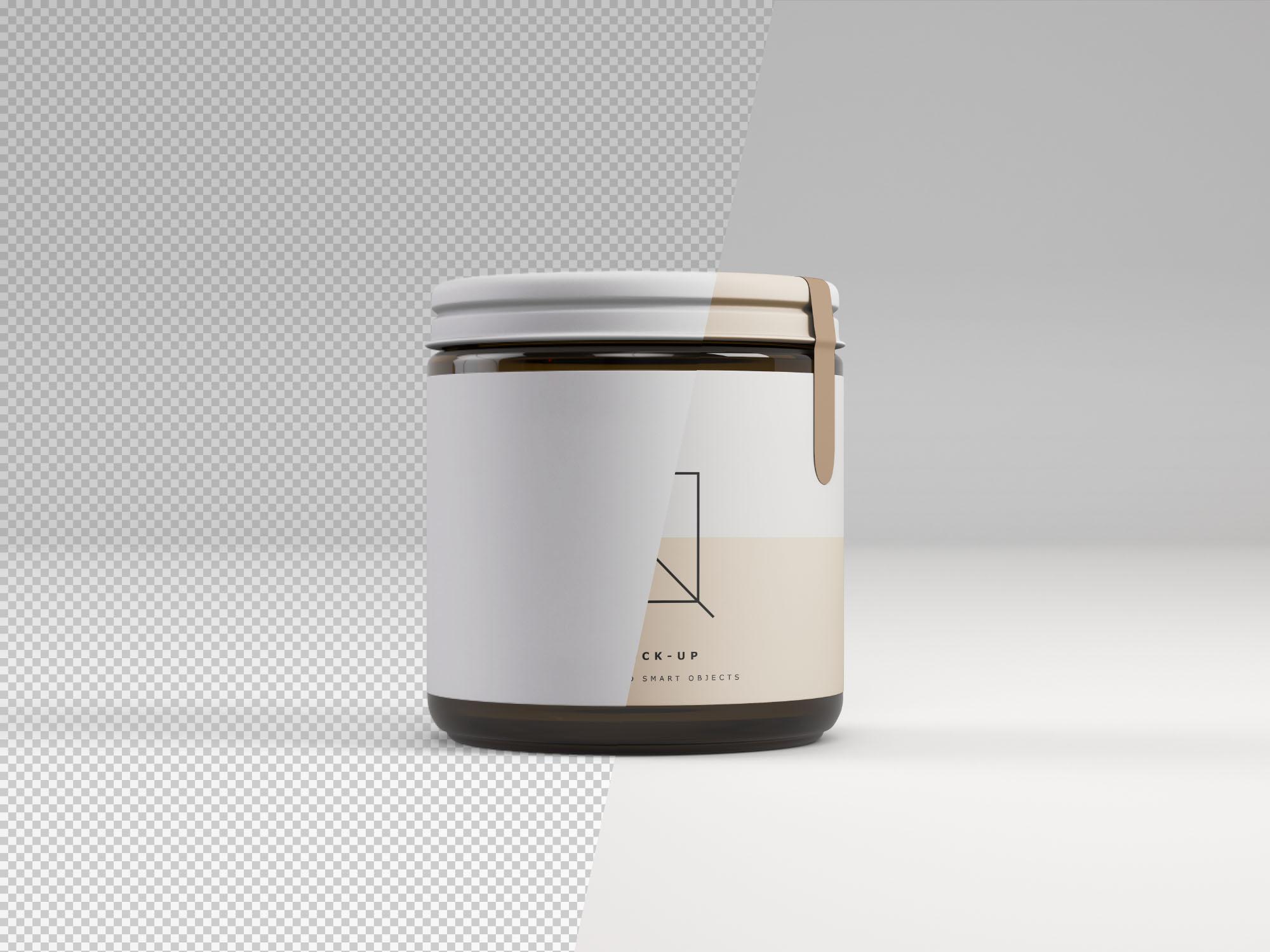 Front View Jar Mockup