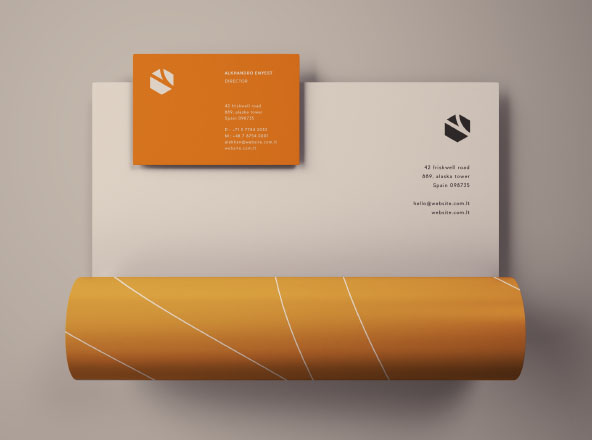 Letterhead & Business Card Mockup