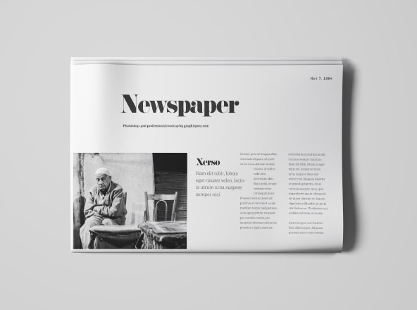 Newspapper Top View Mockup