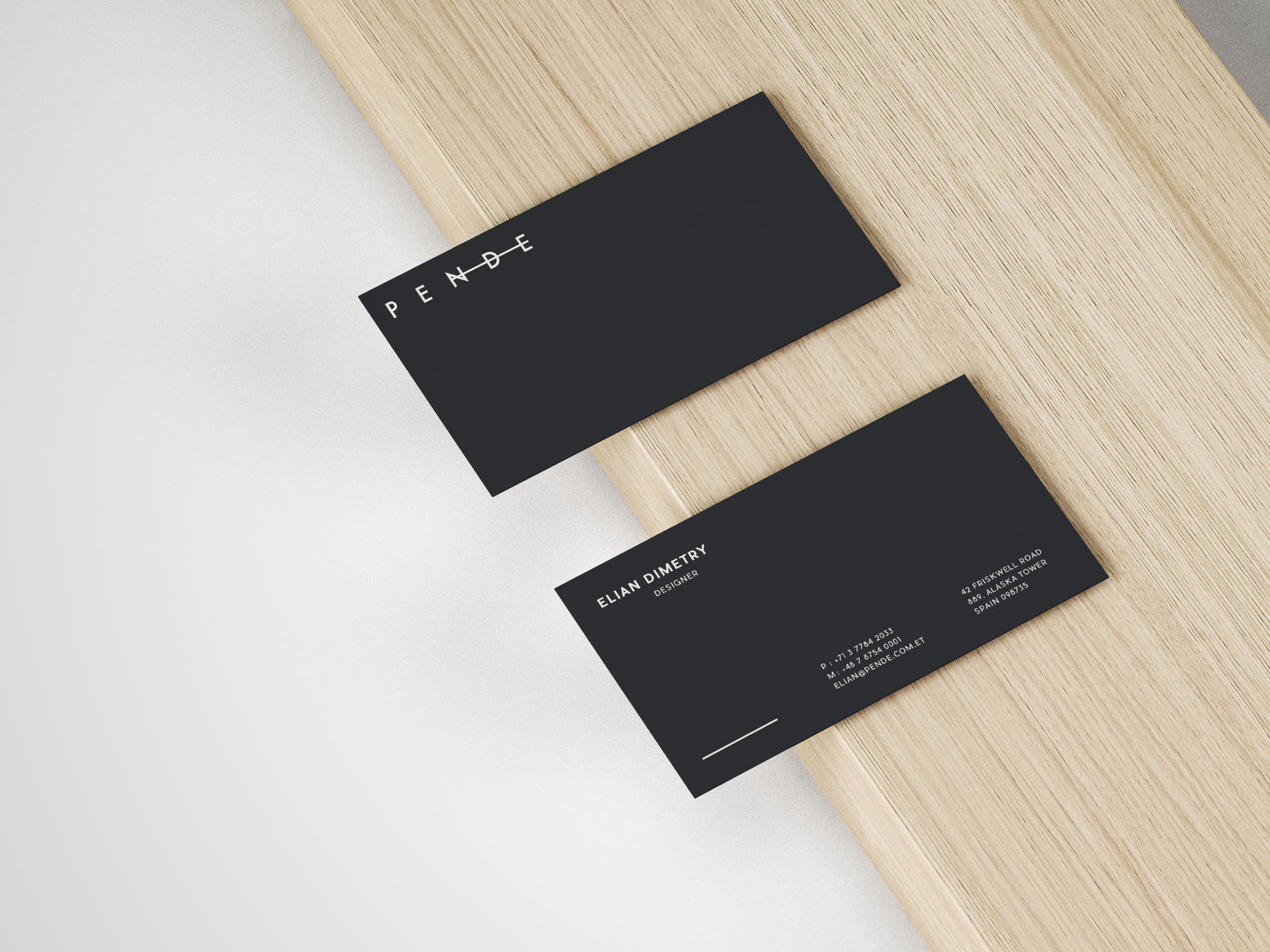 Slim Business Card Mockup