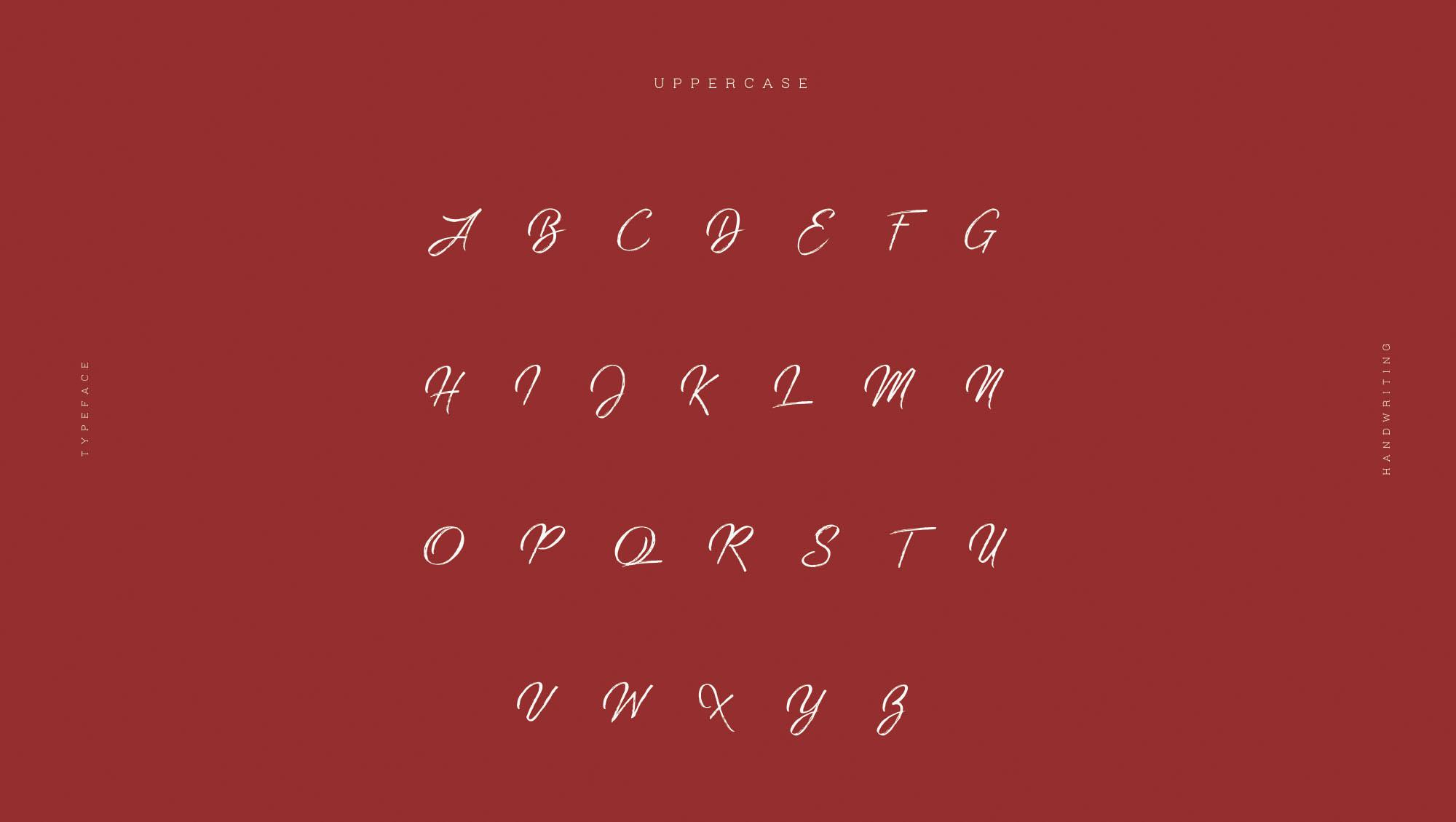 Strain Typeface - Letters