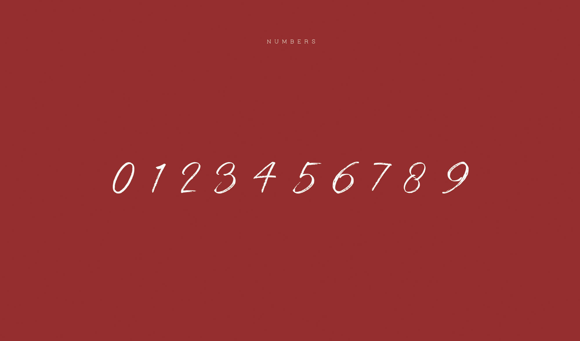 Strain Typeface - Numbers