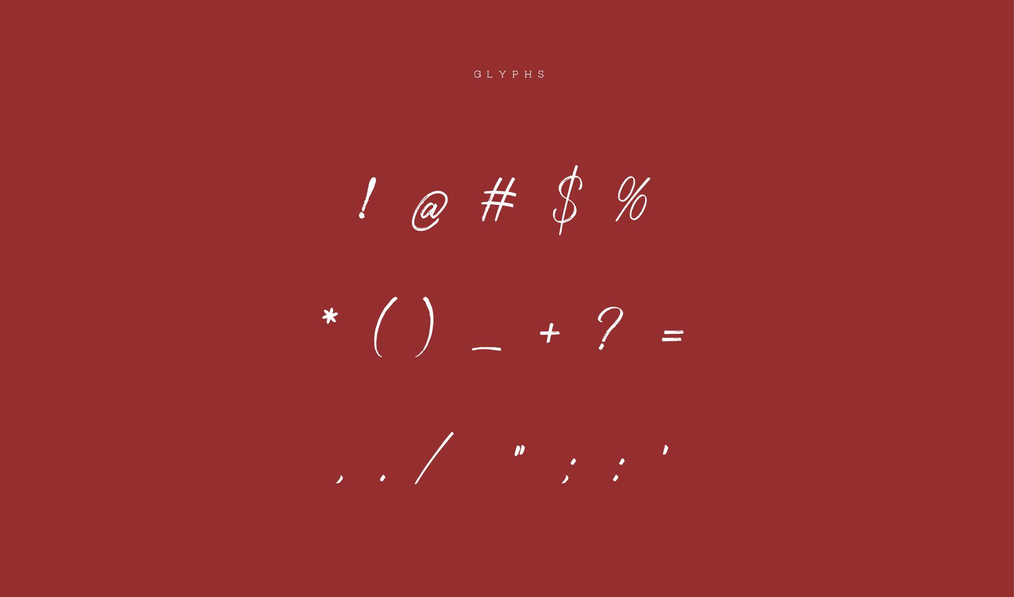 Strain Typeface - Glyphs