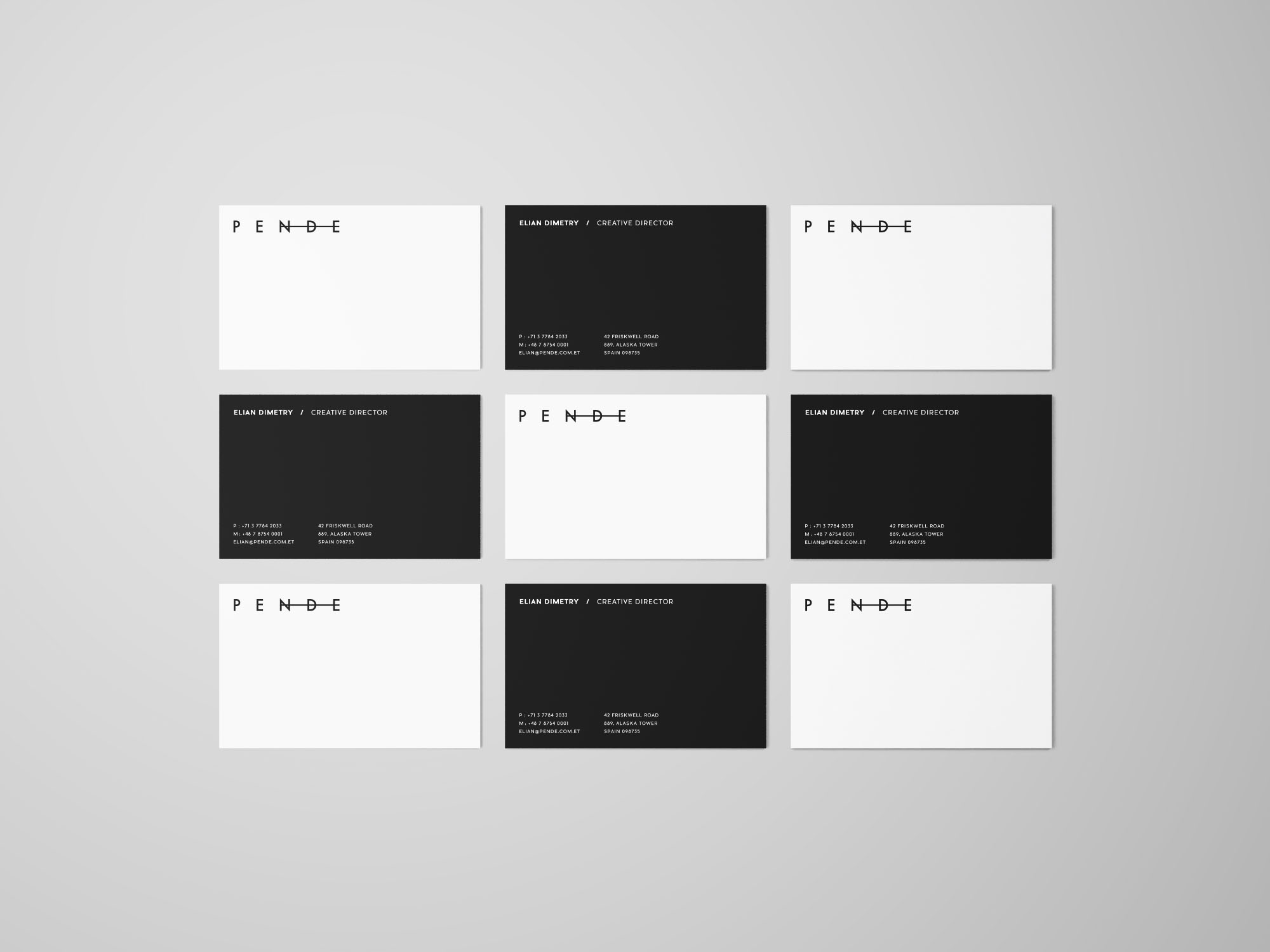 Uniform Business Cards Mockup
