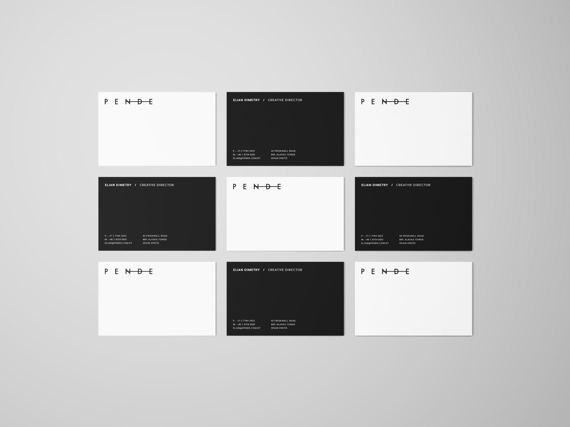 Uniform Business Cards Mockup