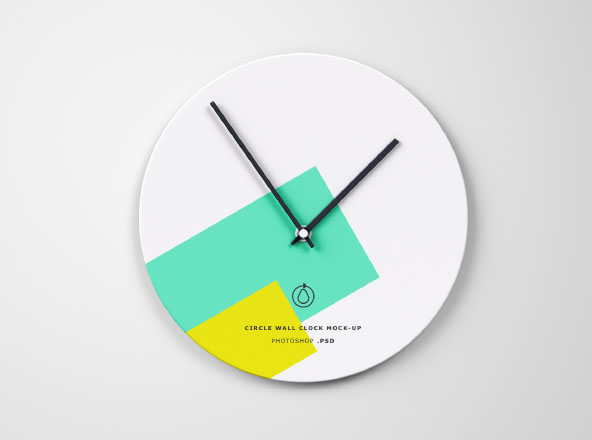 Circle Wall Clock Mockup PSD