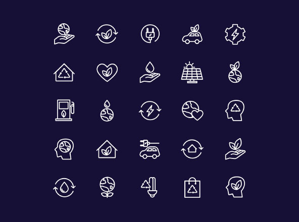 Energy Source & Ecology Icons