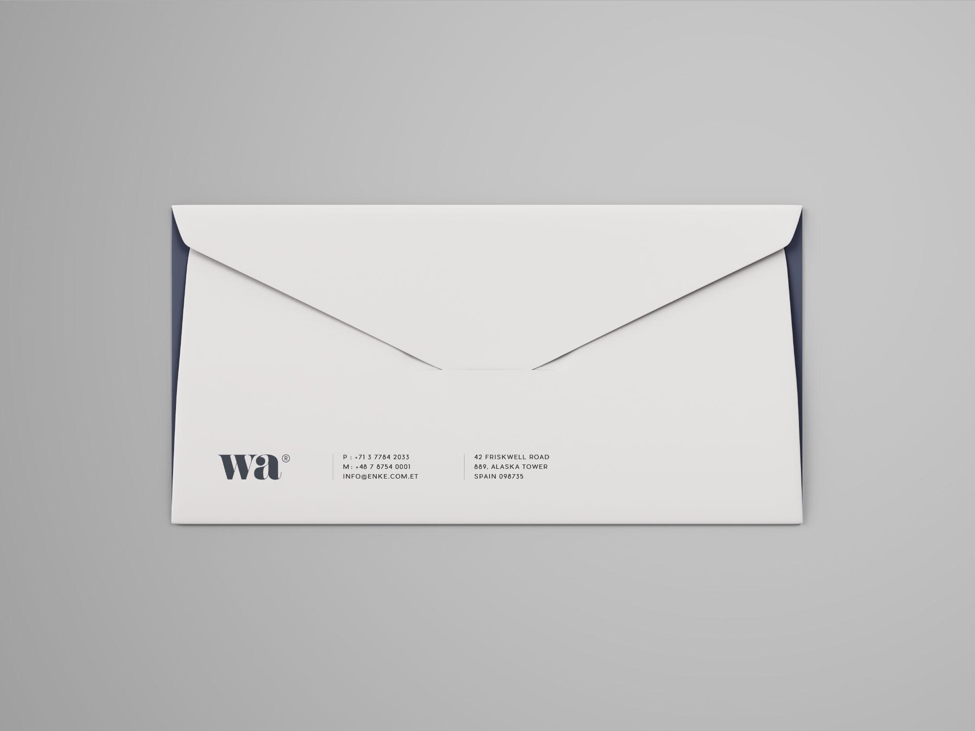Side Seam Envelope Mockup