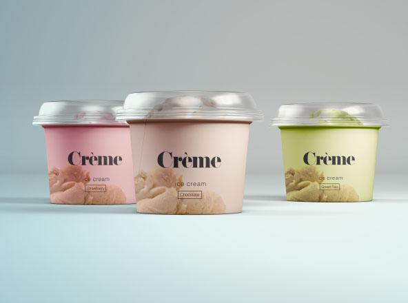 Mini Ice Cream Cups Mockup