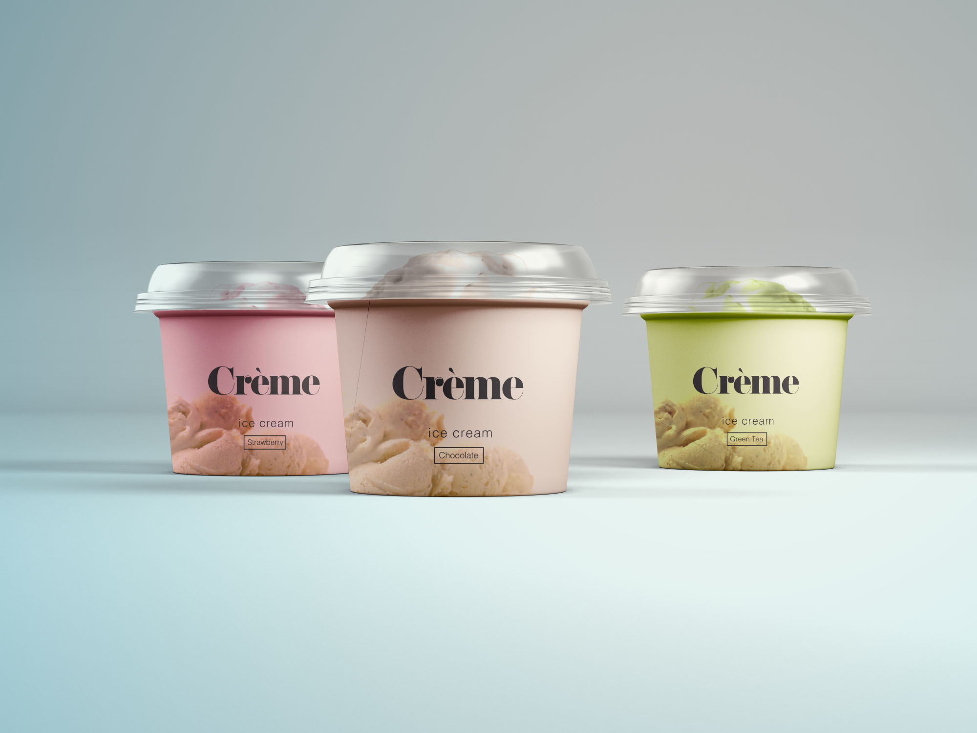 Mini Ice Cream Cups Mockup