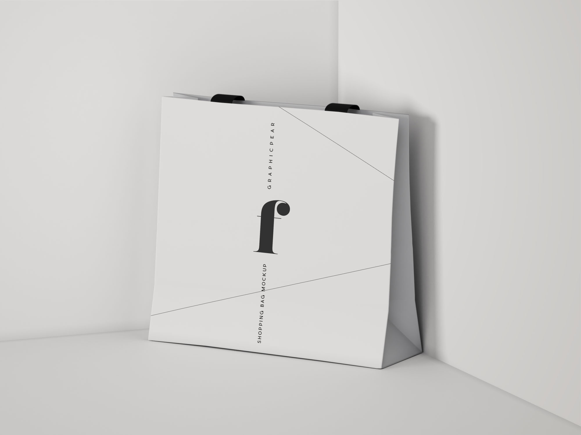 square shopping bag mockup  psd