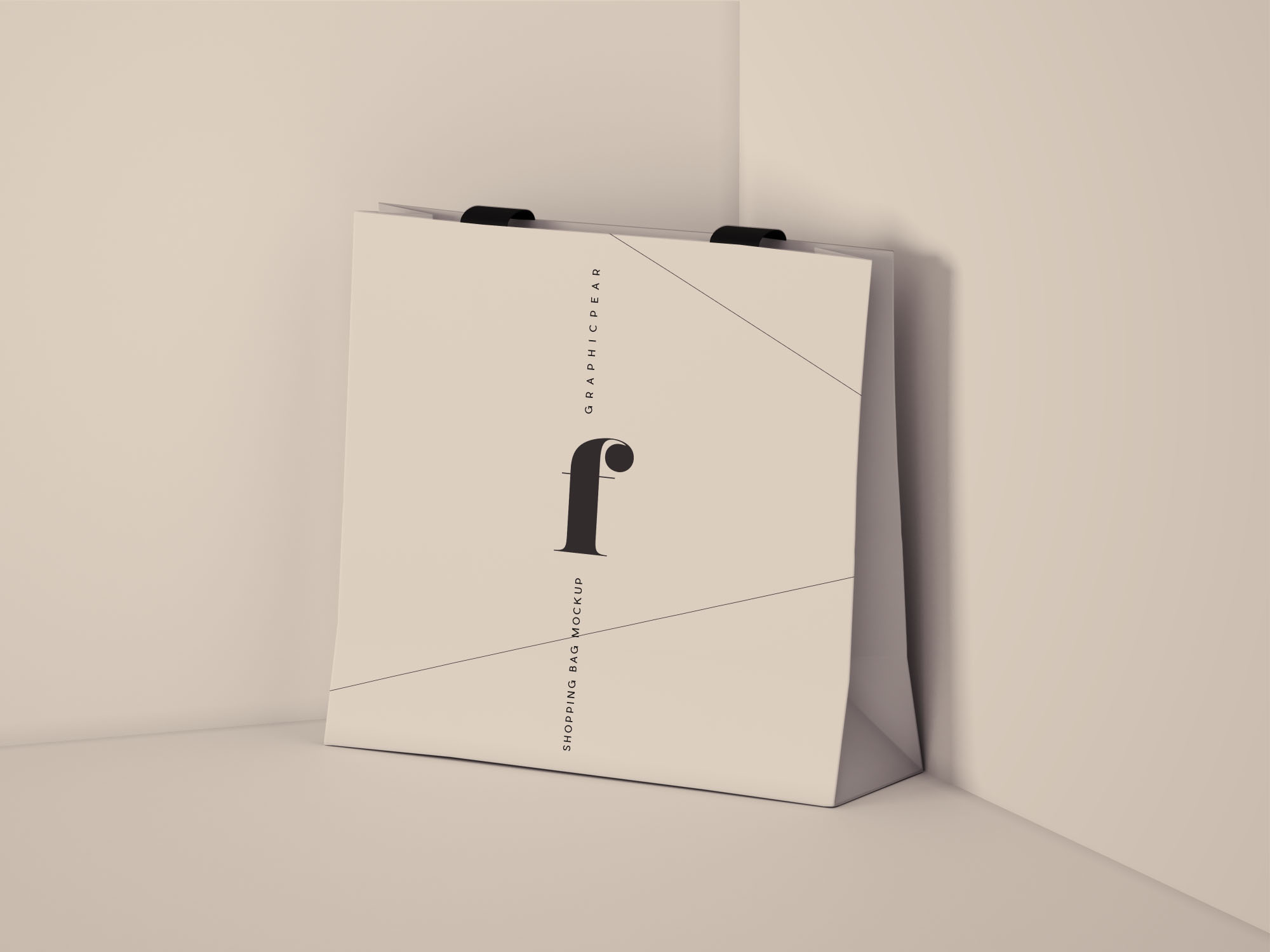 Square Shopping Bag Mockup