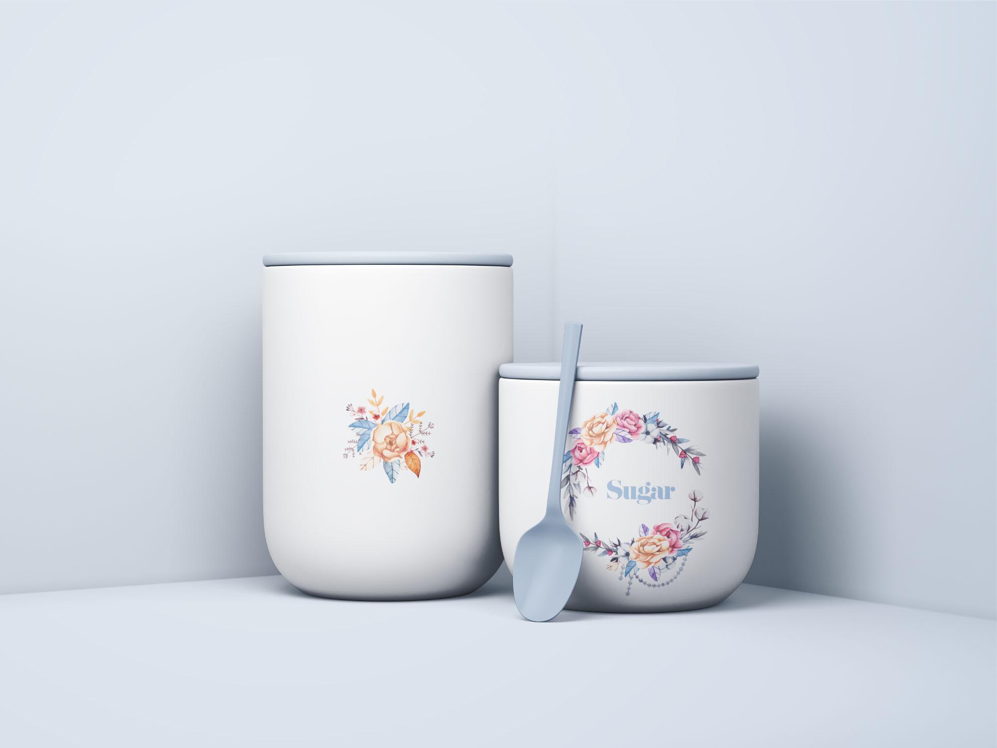 Minimal Jars with Spoon Mockup