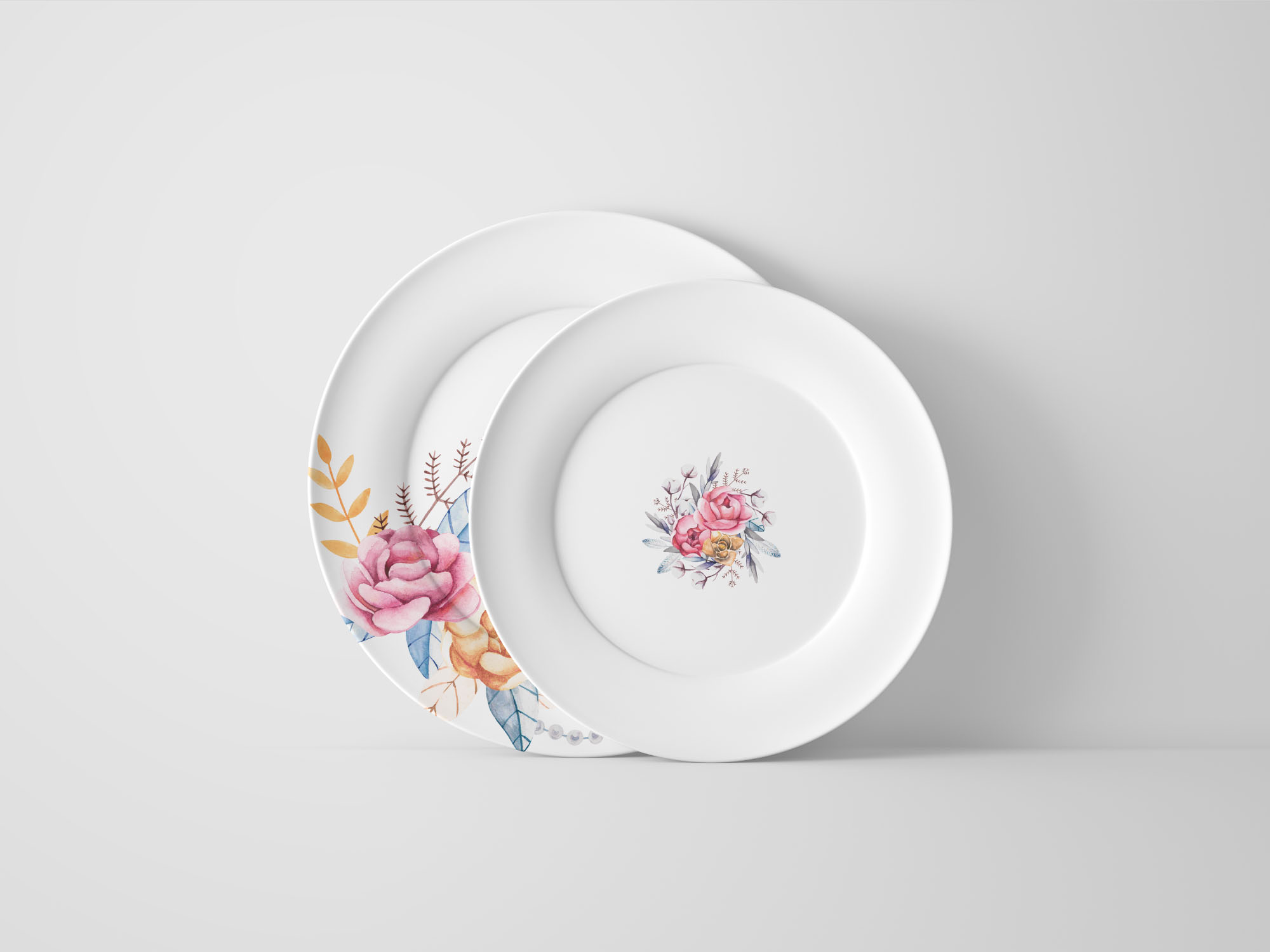 Plates Mockup Front View