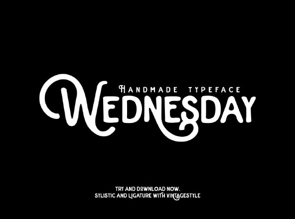Wednesday Typeface