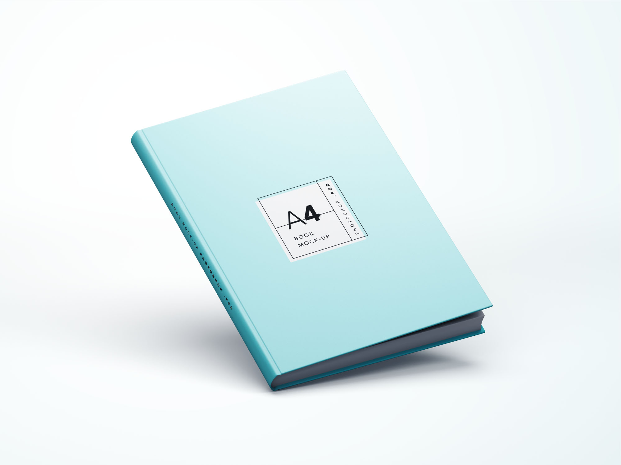 Simple Book Cover Design Psd ~ Simple a book mockup psd
