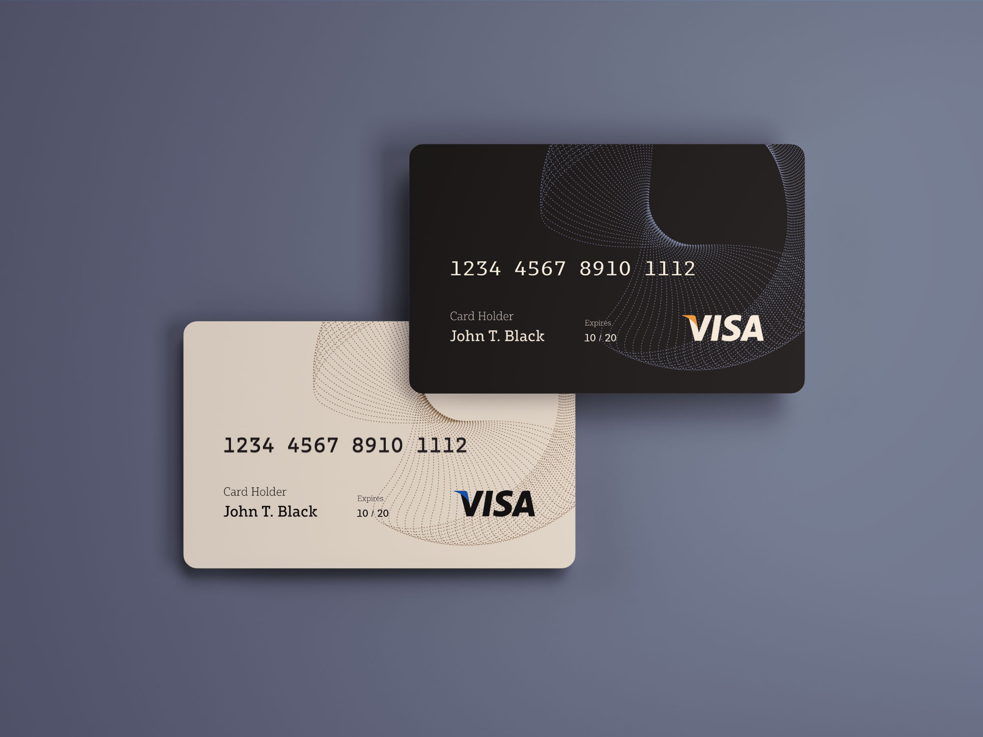 No Credit Check Credit Cards >> Credit Cards Mockup - PSD