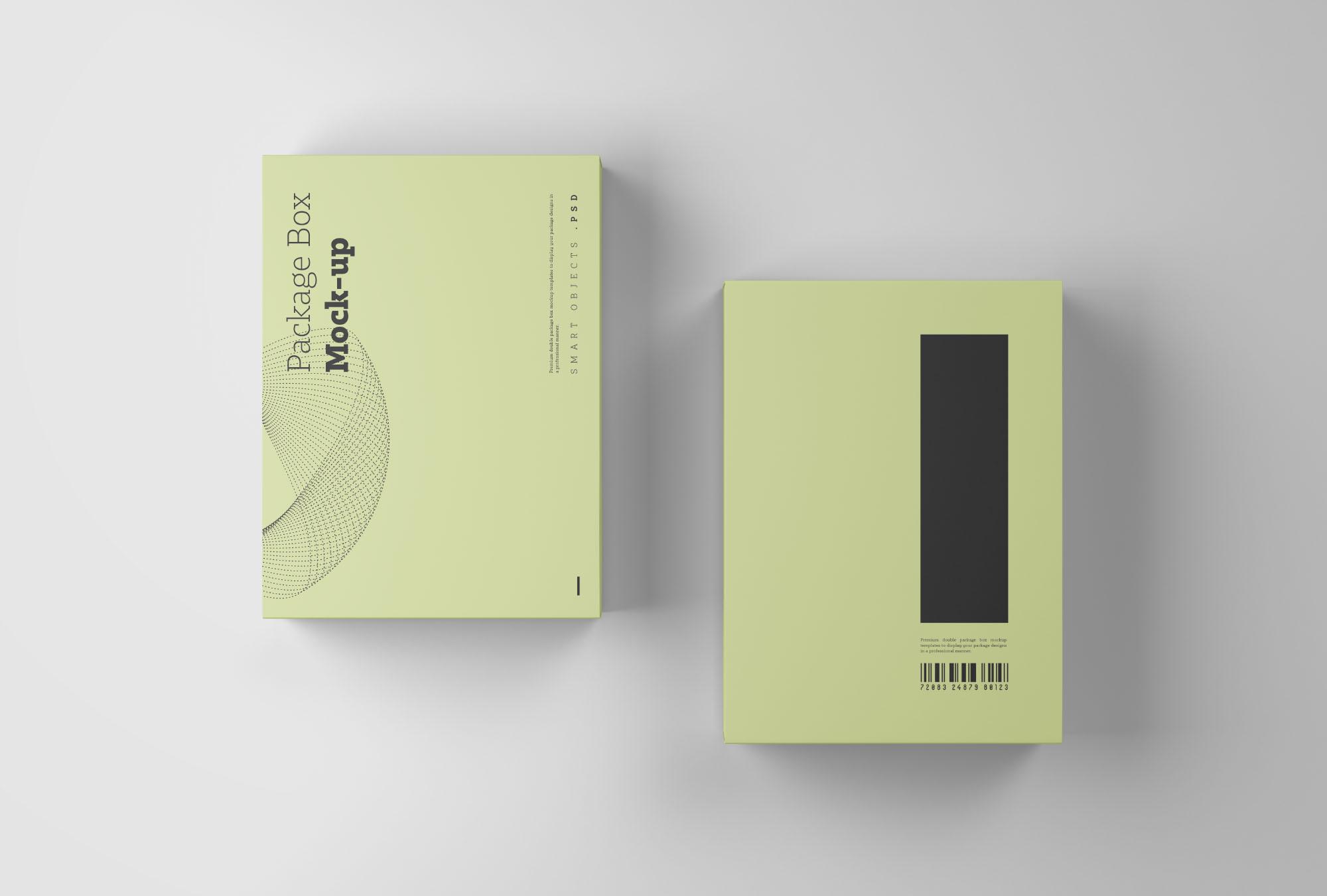 Package Box Mockup PSD