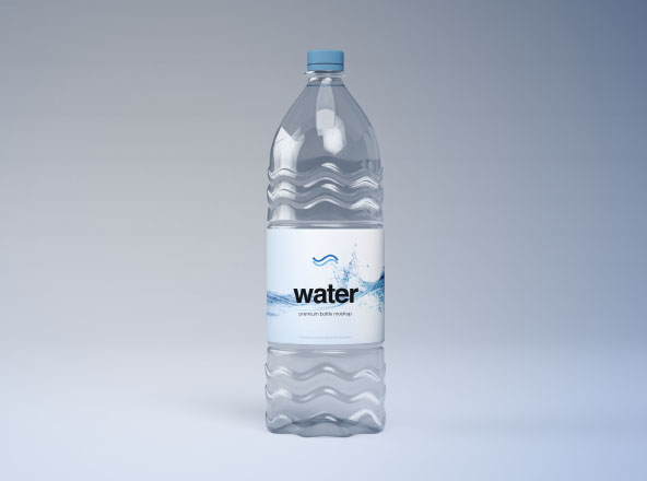 Plastic Water Bottle Mockup psd