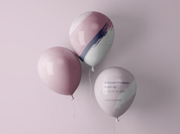 Simple Balloons Mockup