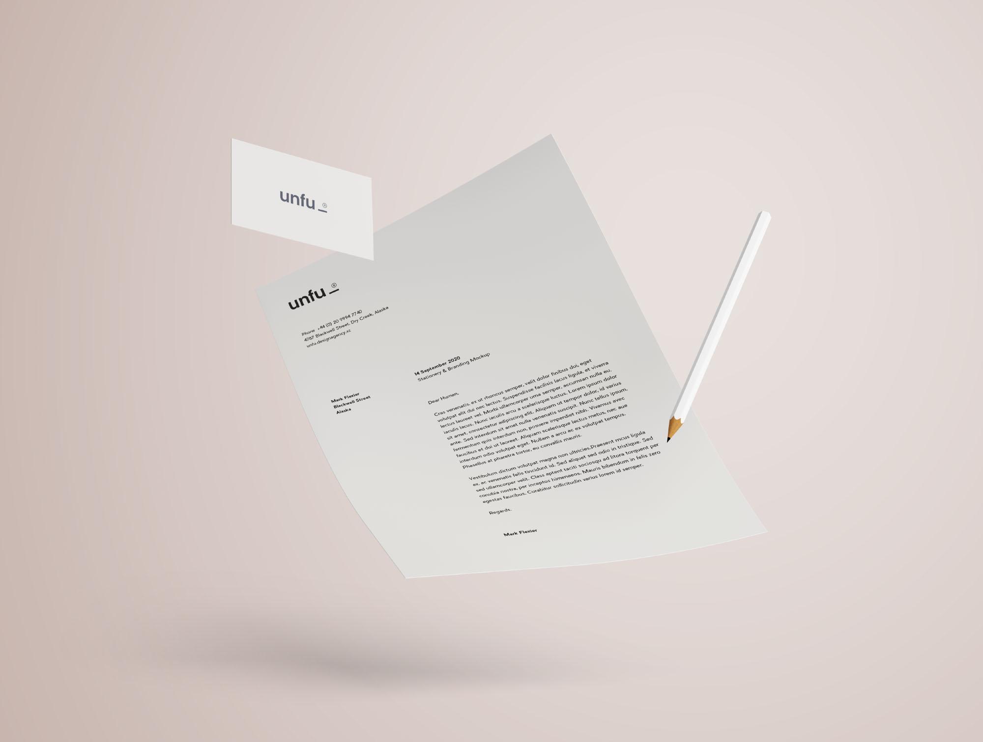 Branding Mockup - Letterhead