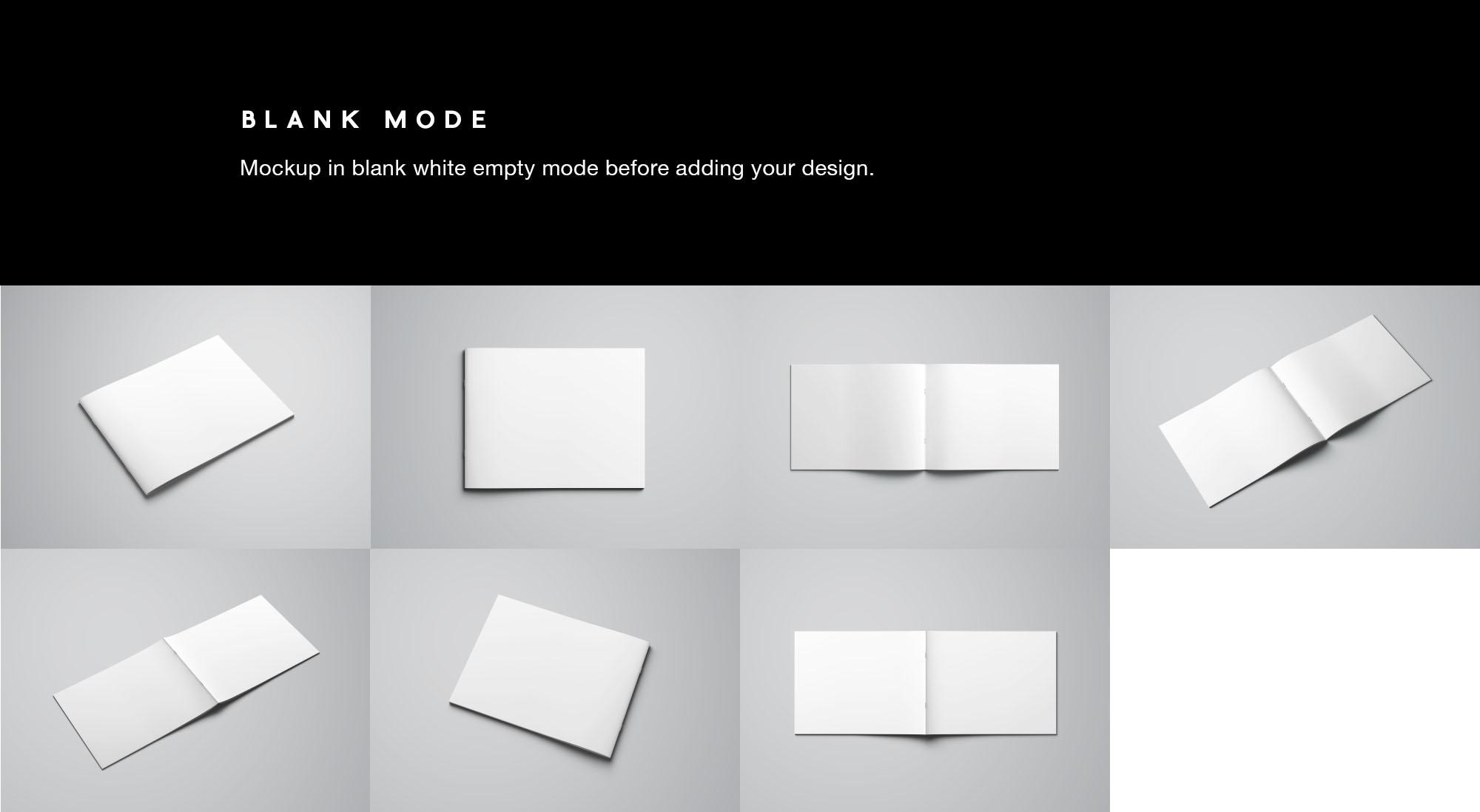 Letter Landscape Brochure Mockup - Blank Mode