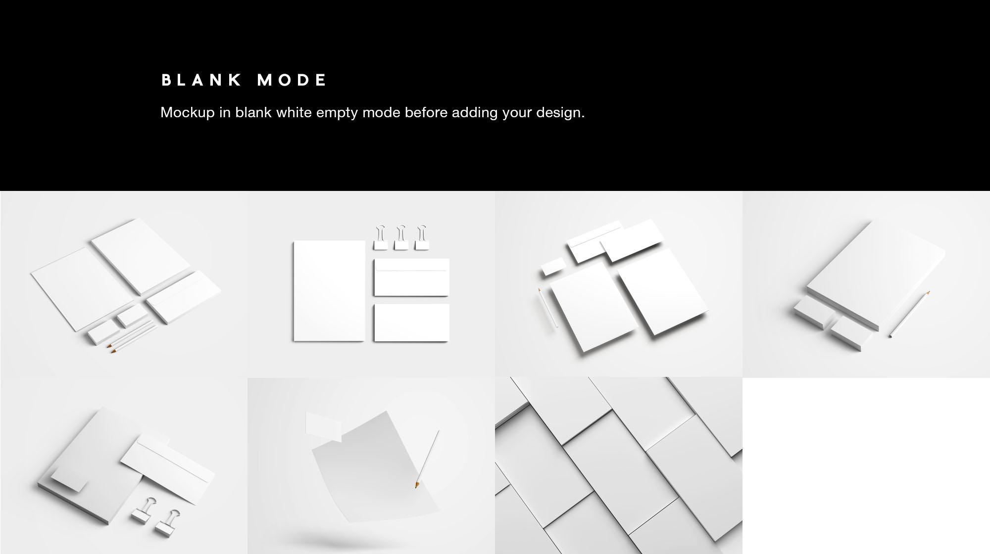 Branding Mockup - Blank Mode