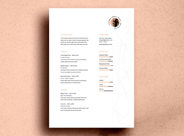 Flame Resume Template