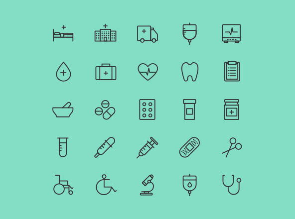 Health & Care Icons