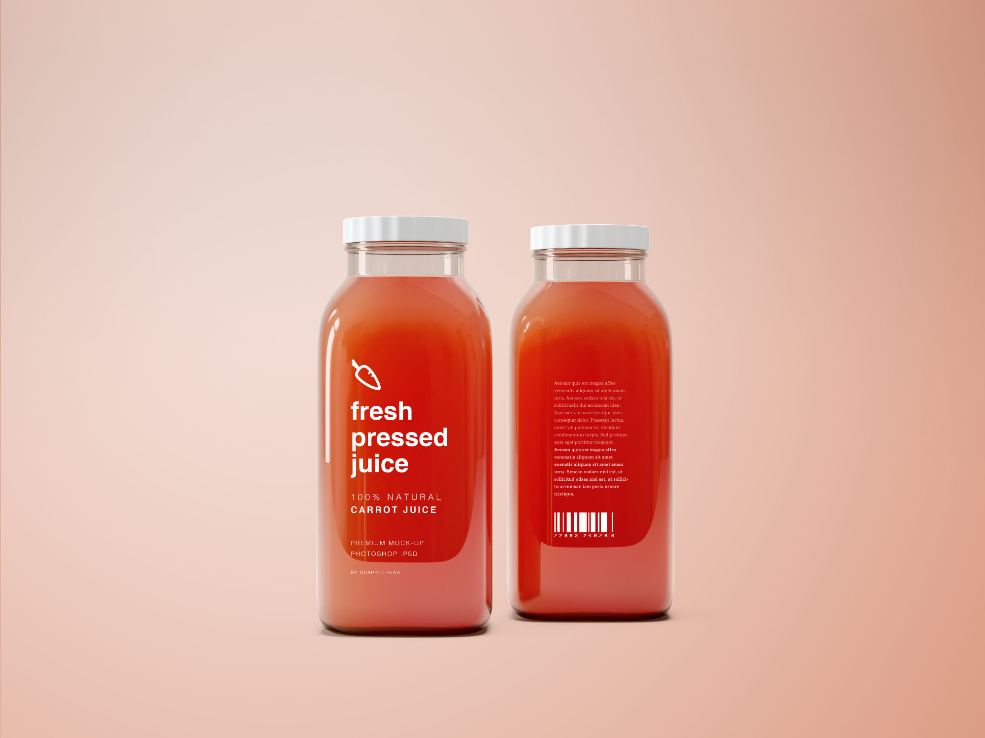 Juice Bottle Mockup - Carrot
