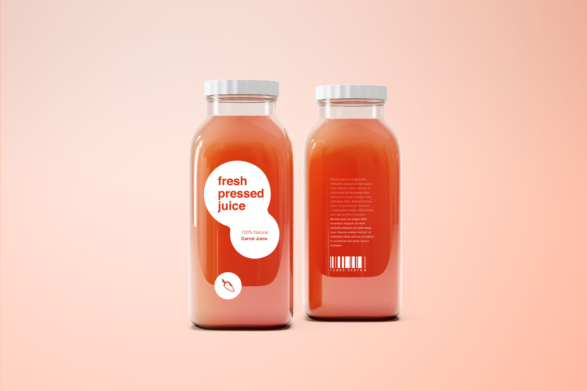 Juice Bottle Mockup Labeled