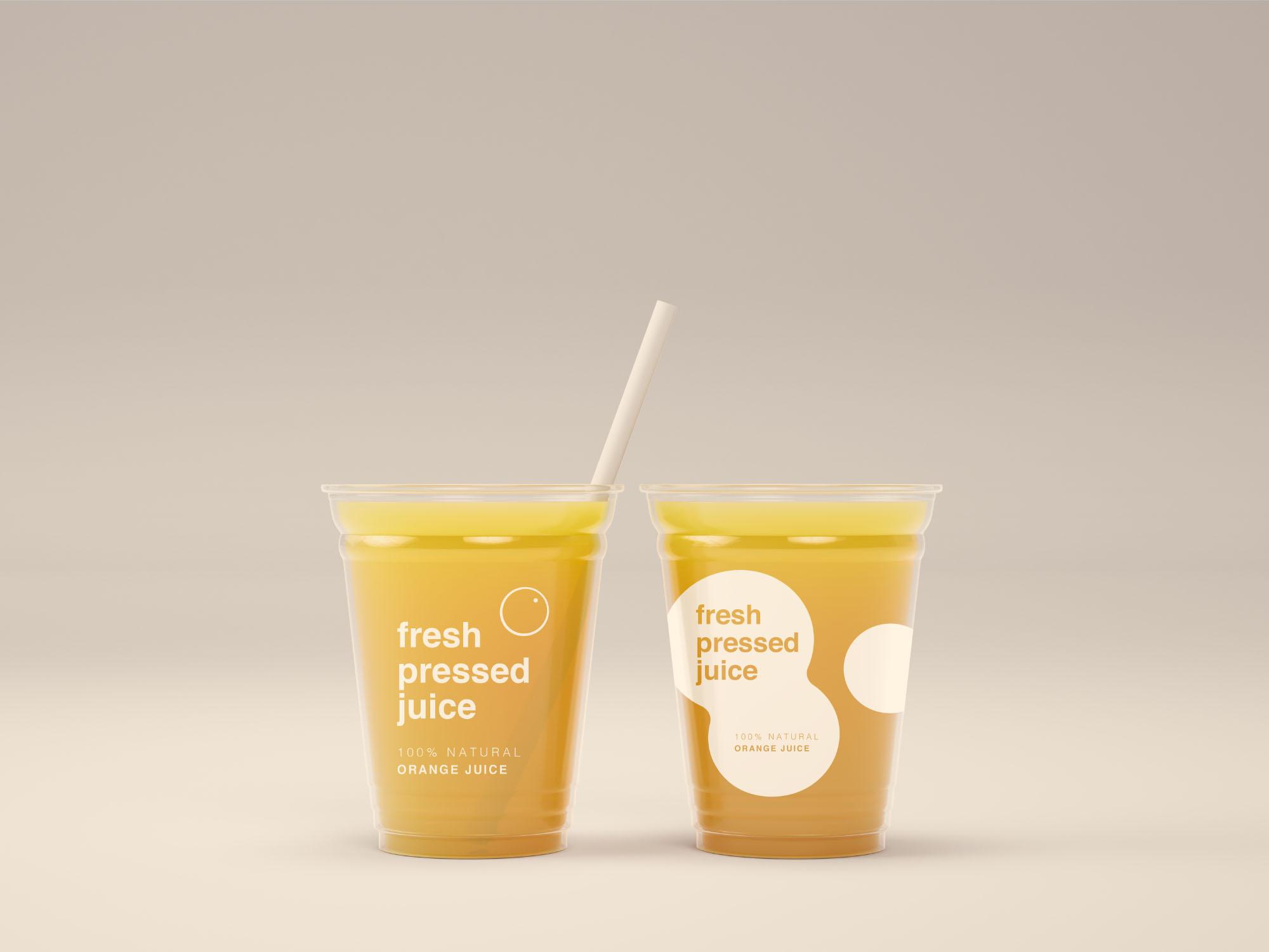Juice Cups Mockup Psd