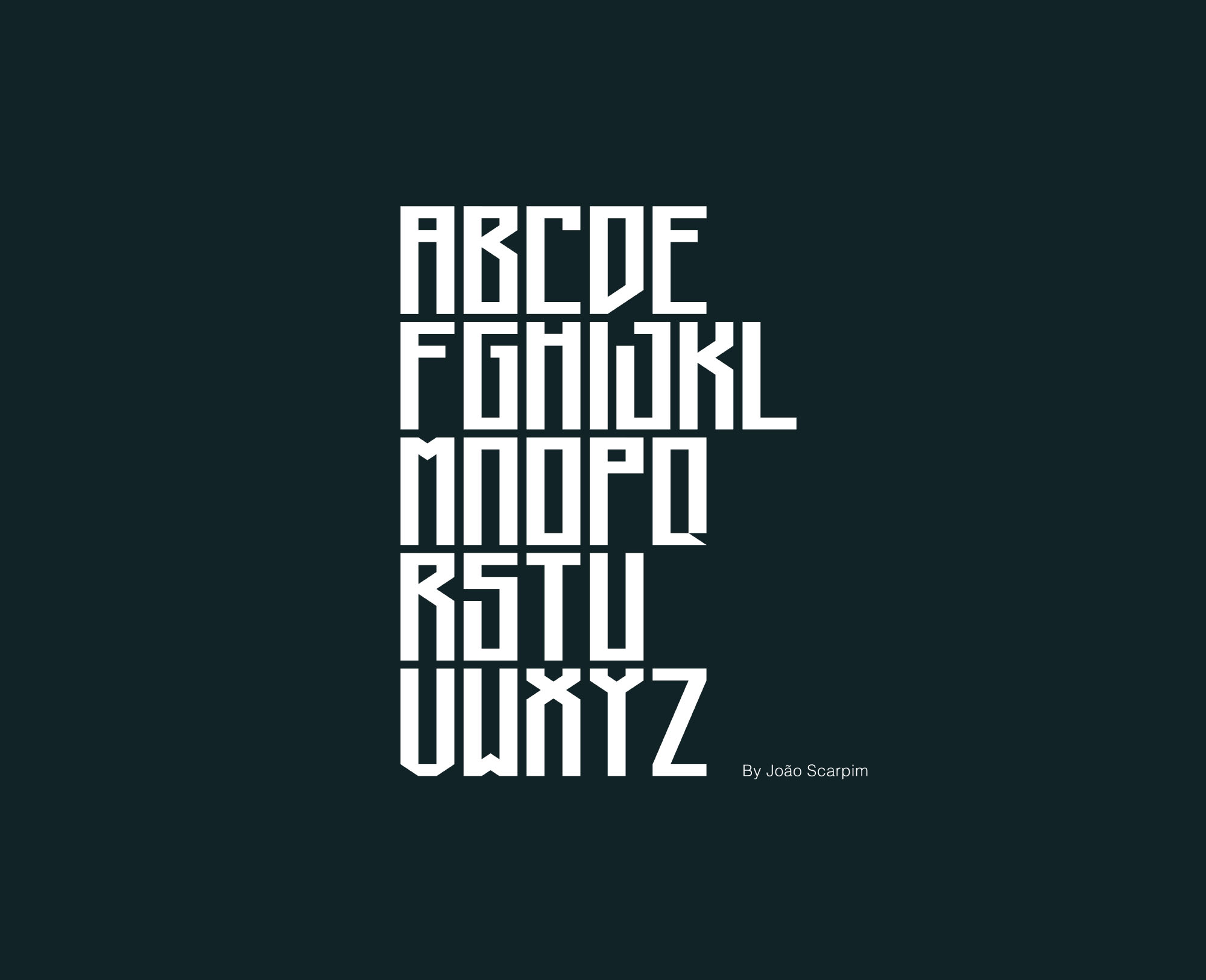 Long Johnson Font Letters