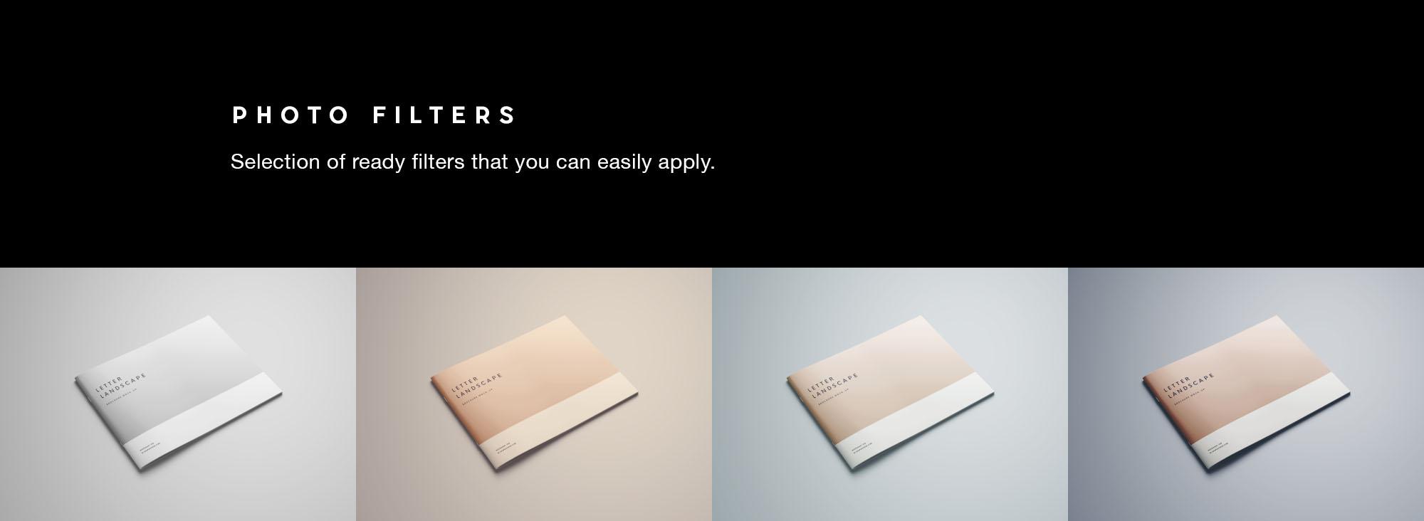 Letter Landscape Brochure Mockup -