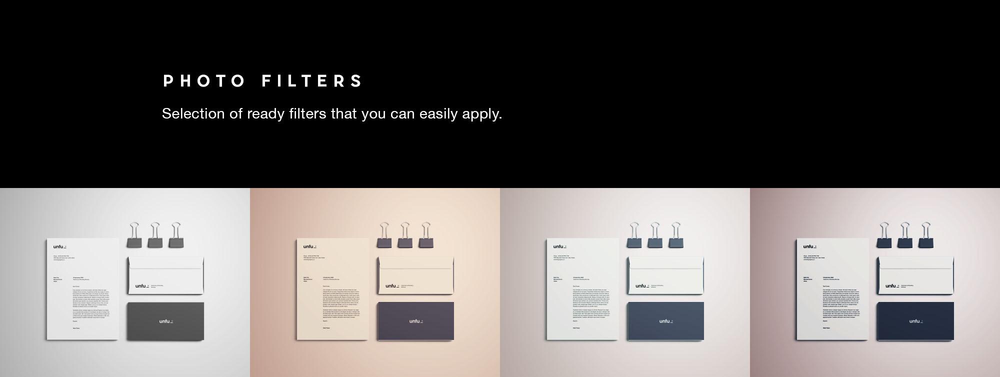 Branding Mockup - Render Filters