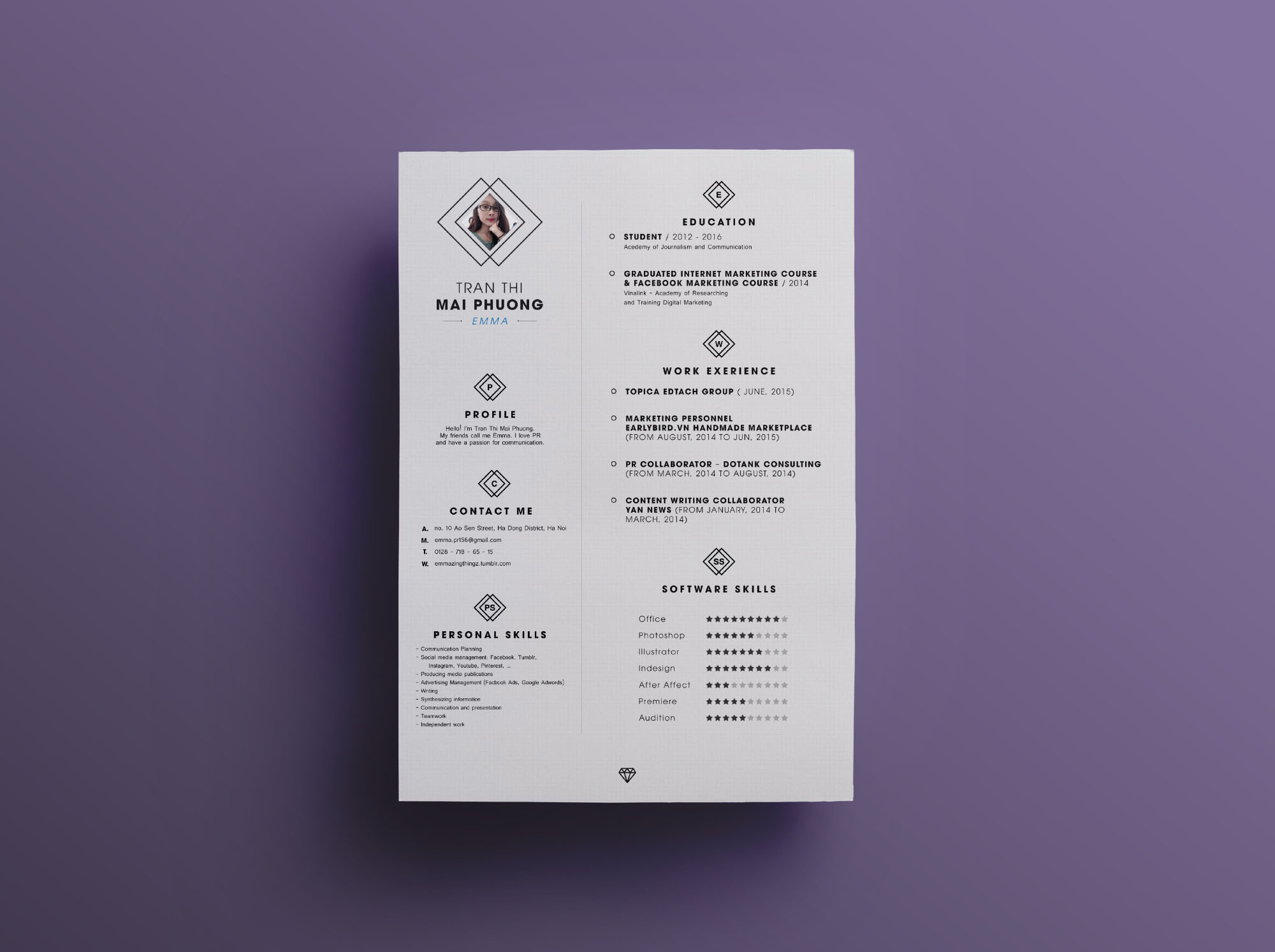 Gmail Resume Template | Neat Resume Template