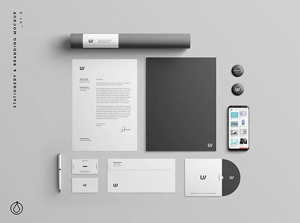 Branding & Stationery Mockup PSD