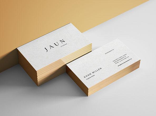Gold Edges Business Card Mockup