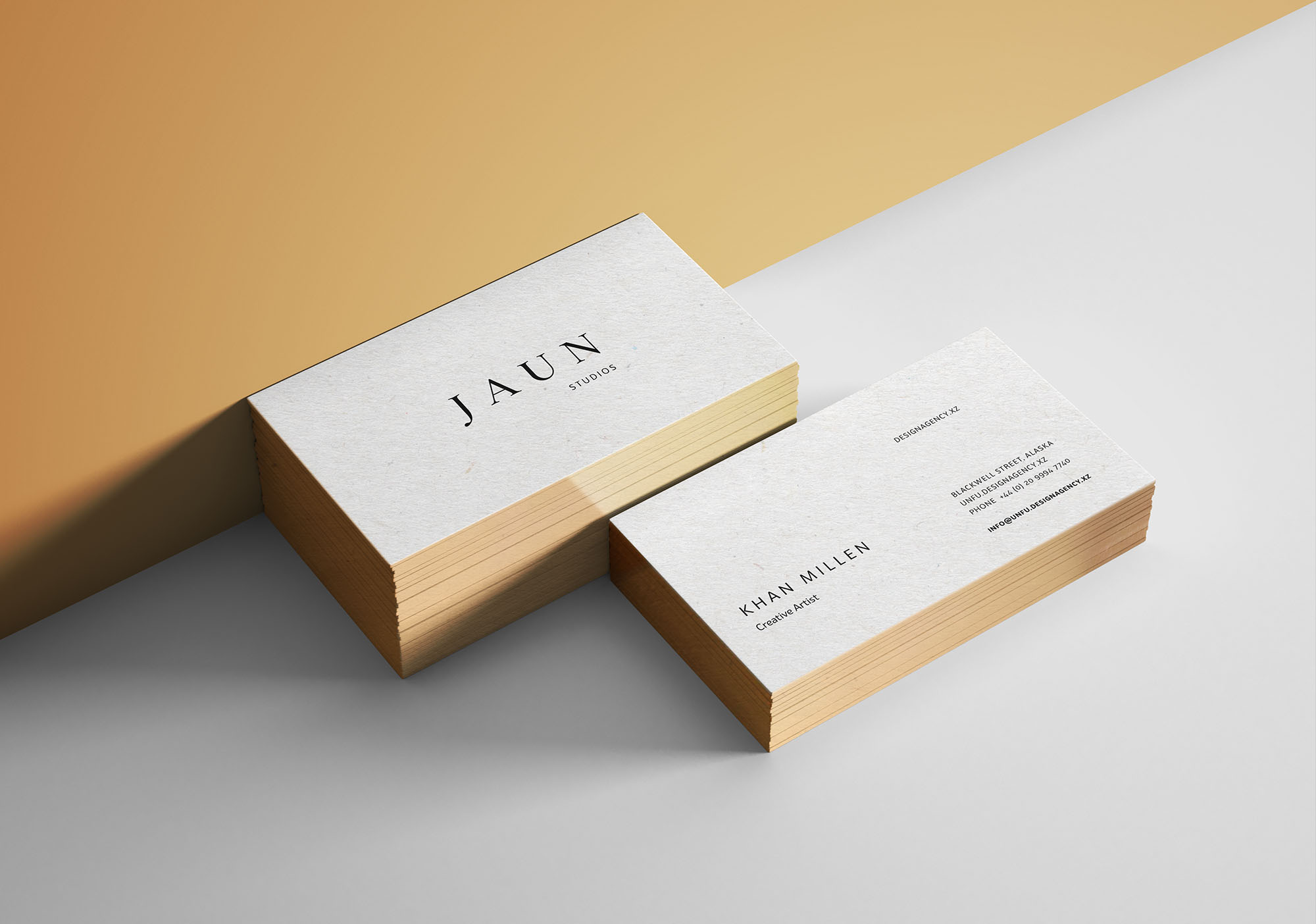 Gold Edges Business Card Mockup