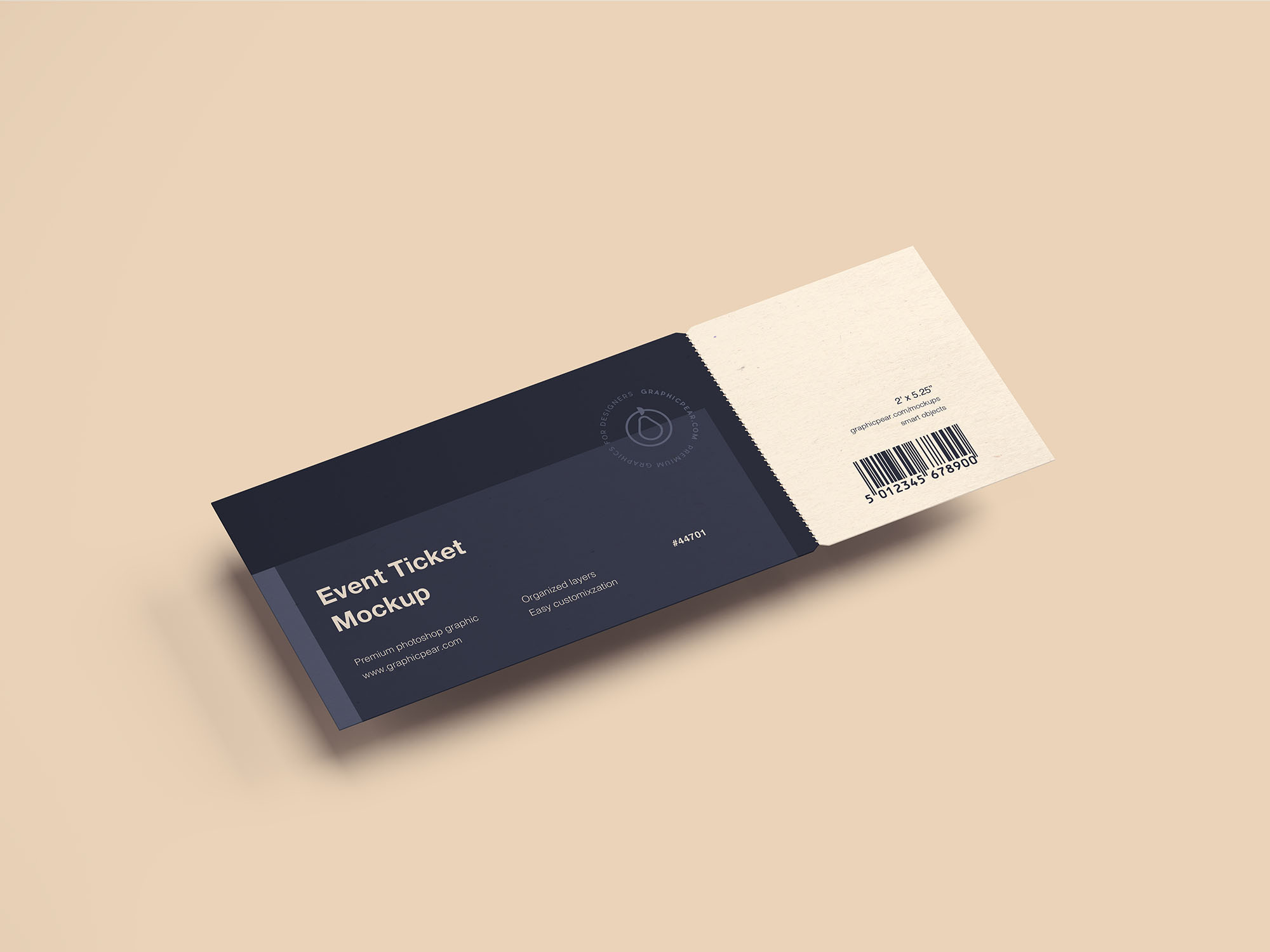 simple ticket mockup