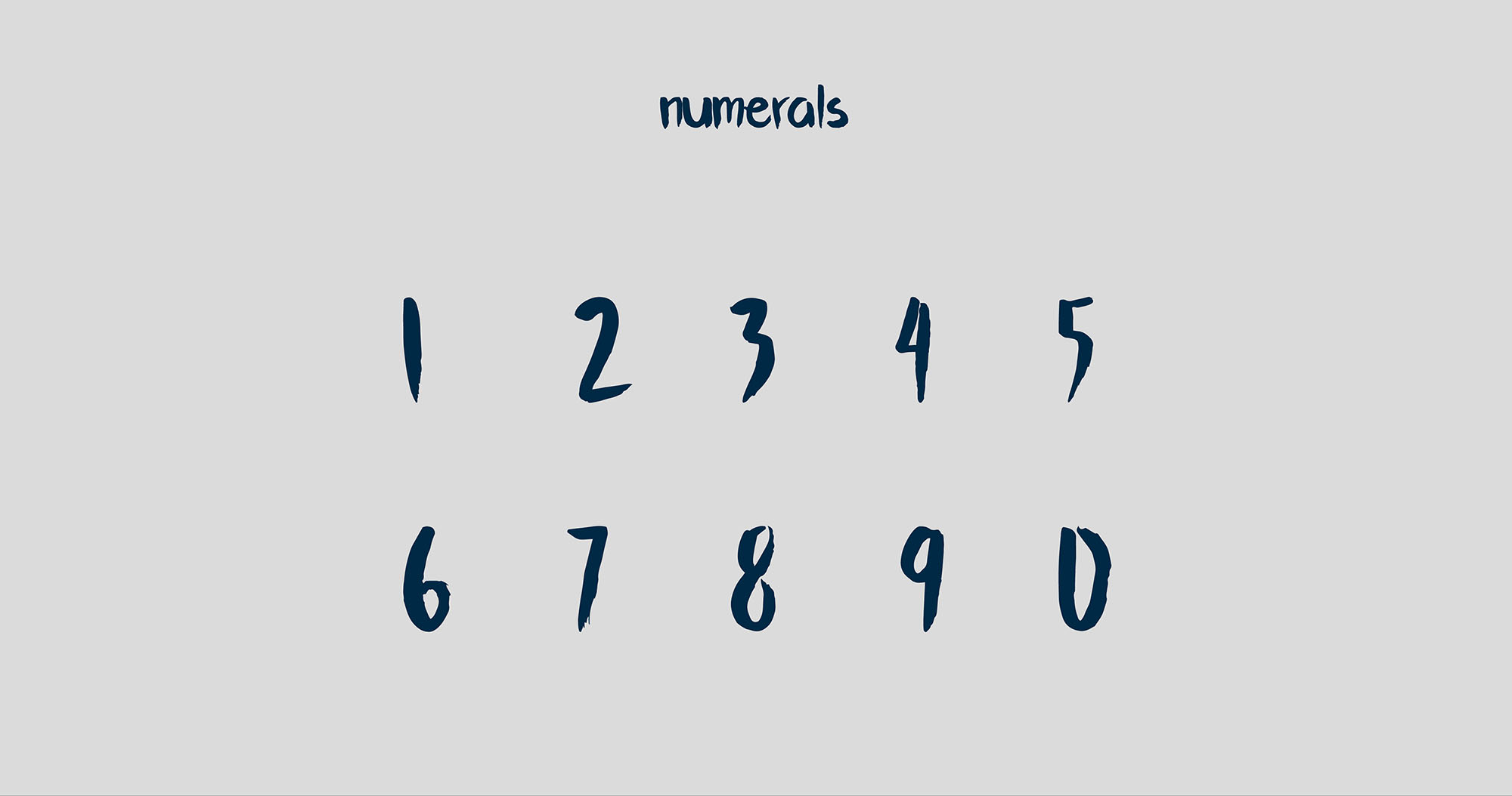 Flow Brush Font - Numerals
