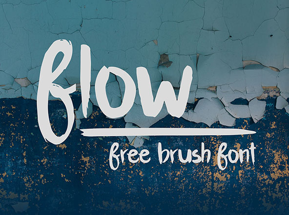 Flow Brush Font