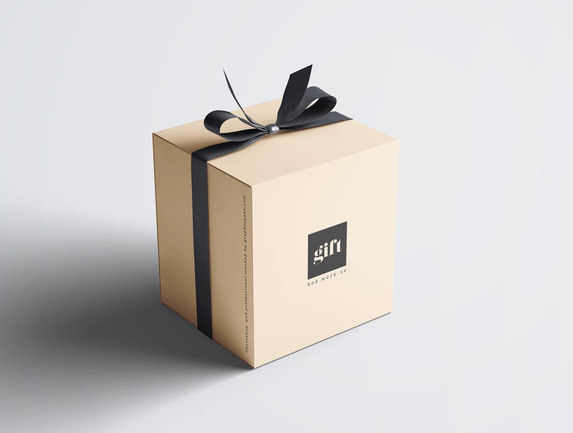Gift Box Mockup 1