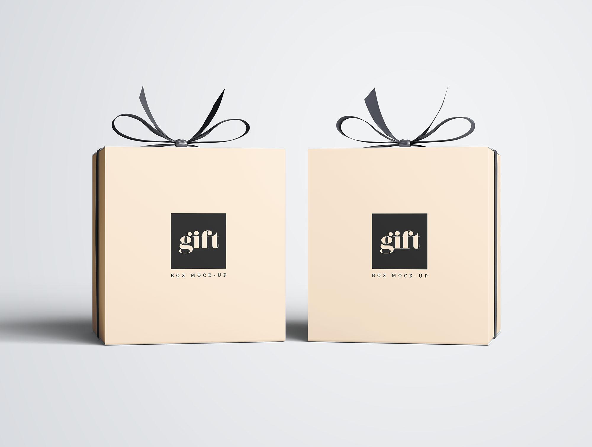 Gift Box Mockup 5