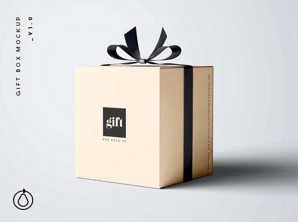 Gift Box Mockup - PSD