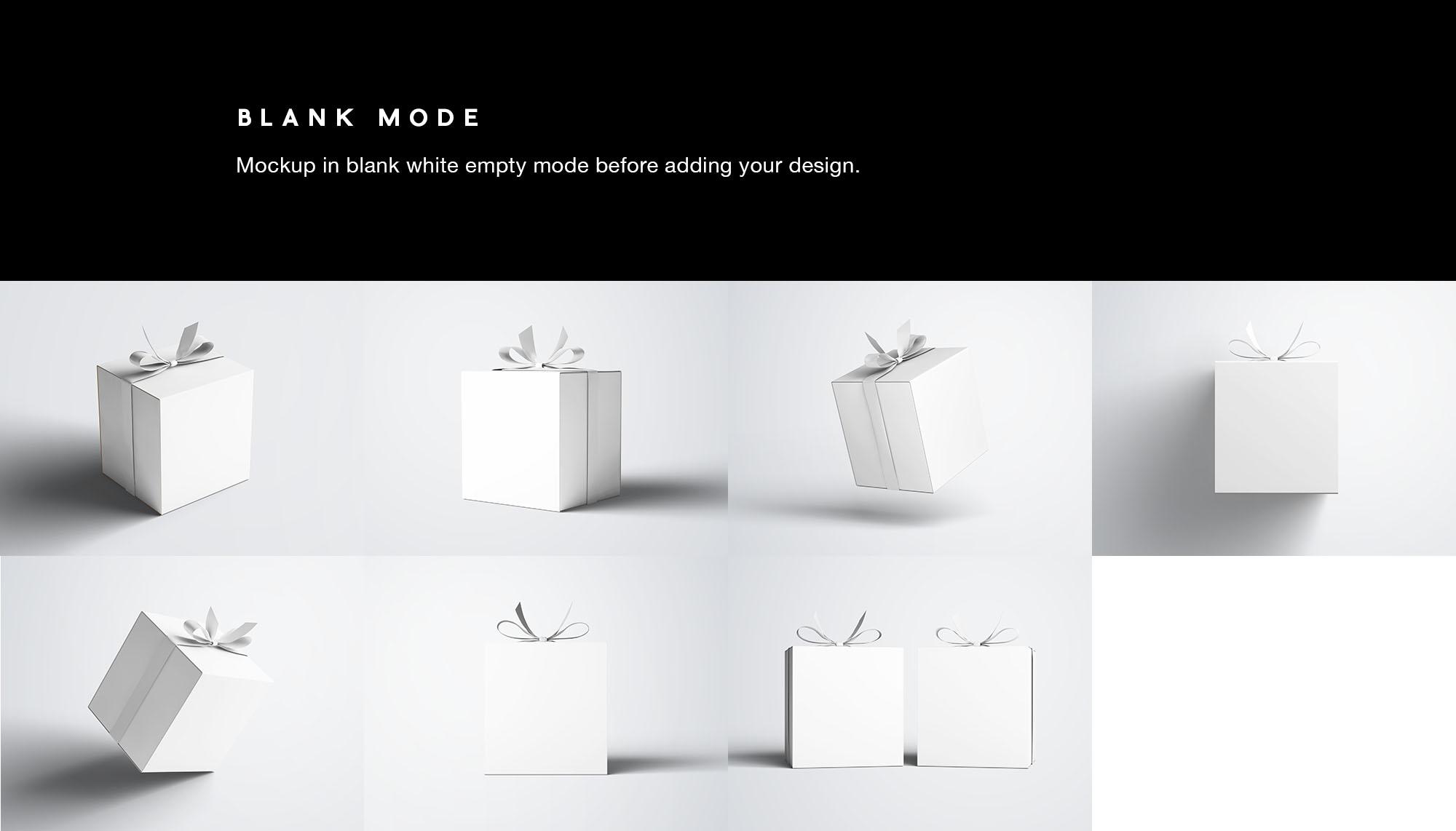 Gift Box Mockup - White