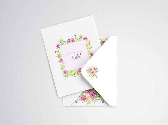 Invitation Card Mockup