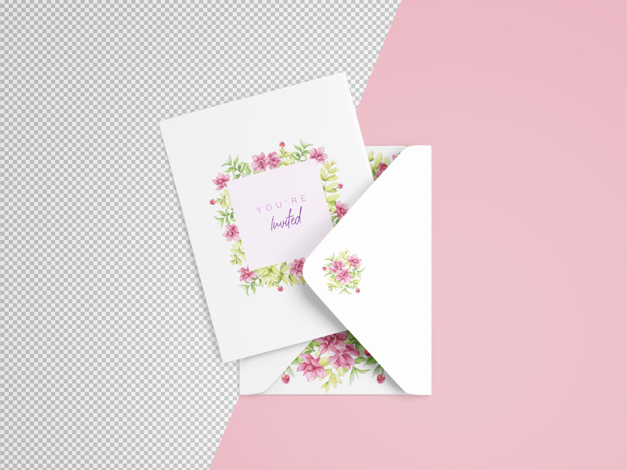 Invitation Card Mockup - Transparent