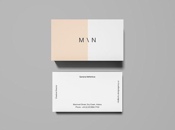 Overhead Business Card Mockup