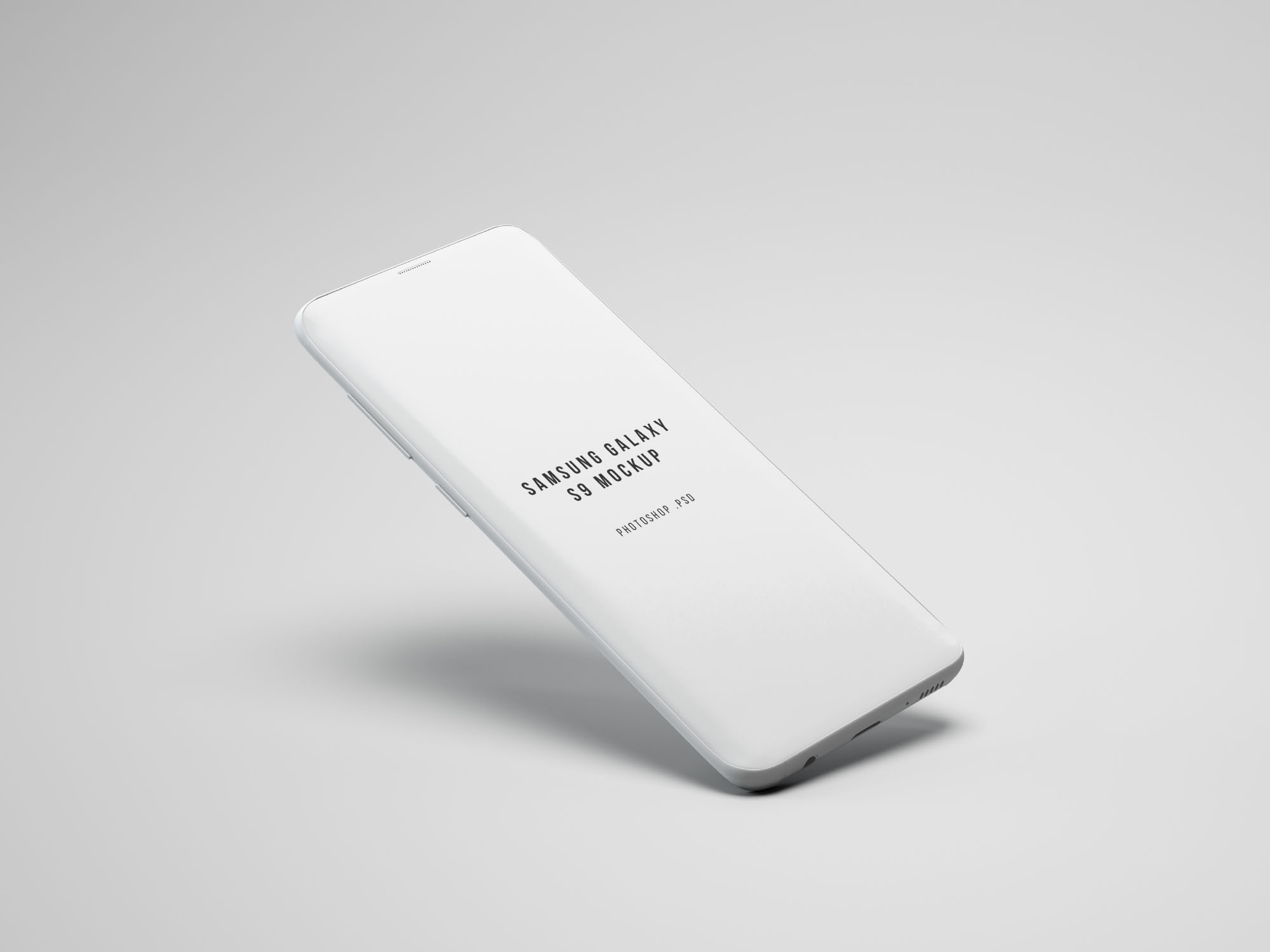 ng Galaxy S9 Mockup - White